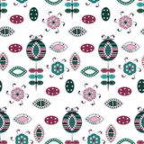 Flower seamless pattern. Vector seamless flower colorful pattern Stock Photography