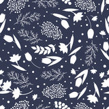 Flower seamless pattern vector stock illustration