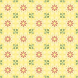 Flower seamless pattern (yellow) Royalty Free Stock Images