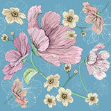 Flower seamless pink. Thais is illustration of flower pattern seamless Royalty Free Stock Photography