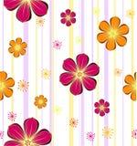 Flower seamless retro background. Vector Stock Photos