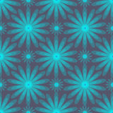 Flower seamless retro background. Vector illustration. Royalty Free Stock Photography