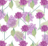 Flower seamless rose wallpaper background stationery wrapping paper. Layered lilac and violet rose seamless background Royalty Free Stock Image