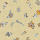 Flower seamless texture.  Endless floral pattern. Can be used for wallpaper Royalty Free Stock Image