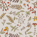 Flower seamless texture.  Endless floral pattern. Can be used for wallpaper Stock Photos