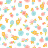 Flower seamless vector background. Vintage floral pattern Stock Photography