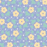 Flower seamless vector pattern with ornamental background royalty free illustration