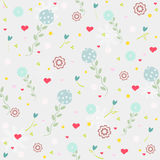 Flower seamless vintage patterns Royalty Free Stock Photos