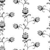 Flower seamless wallpaper. Flower background for your design royalty free illustration