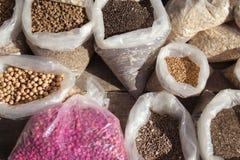 Flower seeds on display Stock Image