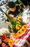 Flower seller Royalty Free Stock Photos