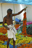 Flower seller India Stock Photos