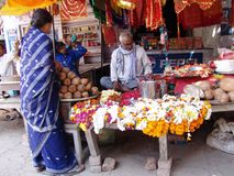 Flower seller India Stock Images