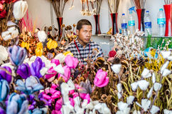 Flower seller Royalty Free Stock Image