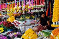 Flower Seller's Stall, Chiang Mai, Thailand Royalty Free Stock Image