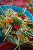 Flower Seller Scale at the Ubud, Bali Public Market. Stock Photography