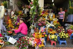 Flower seller in Vietnam Royalty Free Stock Image