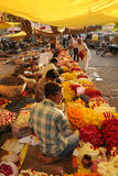 Flower sellers. Agra, India. Stock Photography