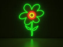 Flower - Series Neon Signs Stock Photo