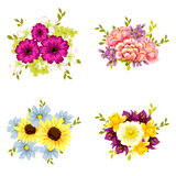 Flower set Royalty Free Stock Photography