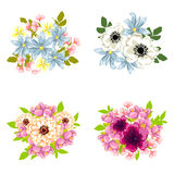 Flower set Royalty Free Stock Image