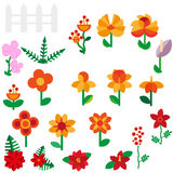 Flower set in a flat style Flower set. Spring. Flowers. Vector flat illustration eps 10 Stock Photos