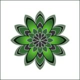 Flower  set, flowers icon. For decorative and beauty design Royalty Free Stock Image