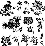 Flower set illustration Royalty Free Stock Photos
