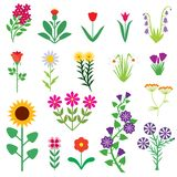 Flower set Royalty Free Stock Images
