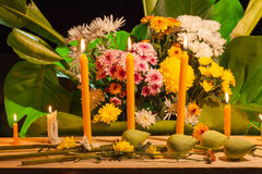flower set praying for god Stock Photography