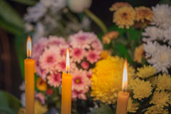 flower set praying for god Stock Image