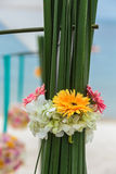 Flower setting. On the beach Stock Images