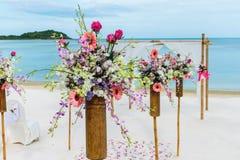 Flower setting. On the beach Royalty Free Stock Photos