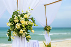 Flower setting on the beach Stock Photography