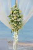 Flower setting. Wedding flower setting on the beach Royalty Free Stock Image