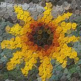 Flower sewing buttons image generated background Stock Photos