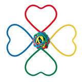 IT Flower Shape, Colored Cables Royalty Free Stock Photo
