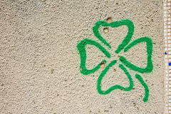 Flower shape on concrete wall Royalty Free Stock Photo