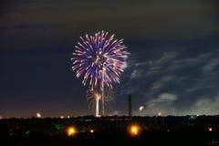 Flower shape  Fireworks Royalty Free Stock Images
