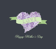 Flower shape heart happy mothers day Royalty Free Stock Photography