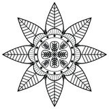 Flower shape with 8 leaves inspired by Indian Stock Images