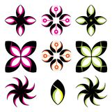 Flower Shape Symbol Icon Set template. Make your design with this shape Stock Photo
