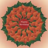 Flower shaped birthday card. Flower shaped happy birthday card (vector illustration stock illustration