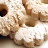 Biscuits with powder sugar stock image