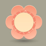 Flower shaped card Stock Photo