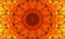 Flower-shaped mandala with shades of orange. A flower-shaped mandala with shades of orange and a simple artistic pattern vector illustration