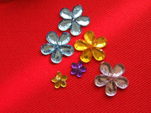 Flower shaped rhinestones Stock Photos