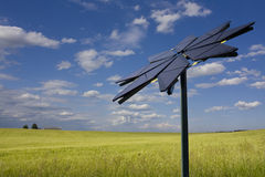 Flower shaped solar panel Stock Image