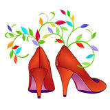 Flower shoes Stock Photos
