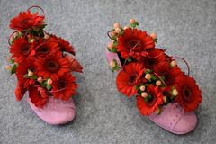Flower shoes Royalty Free Stock Photo